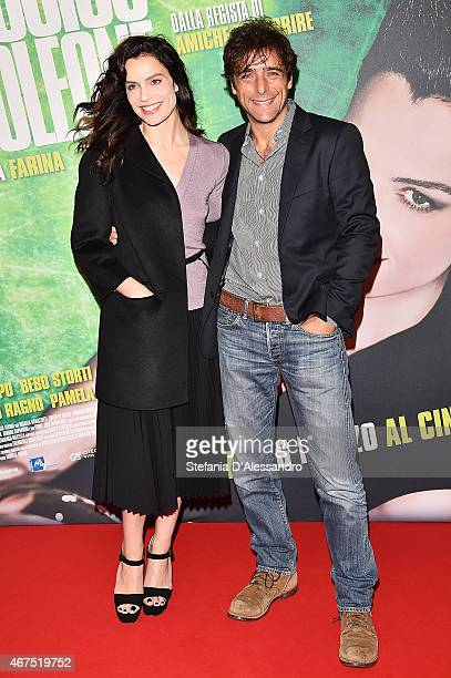 Micaela Ramazzotti and Adriano Giannini attend 'Ho Ucciso Napoleone' Screening In Milan on March 25 2015 in Milan Italy