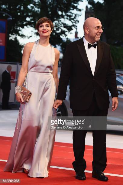 Micaela Ramazzotti and Paolo Virzi walk the red carpet ahead of the 'The Leisure Seeker ' screening during the 74th Venice Film Festival at Sala...