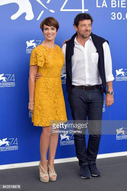 Micaela Ramazzotti and Patrick Bruel attend the 'Una Famiglia' photocall during the 74th Venice Film Festival on September 4 2017 in Venice Italy