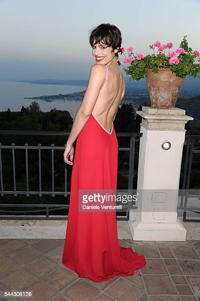 Micaela Ramazzotti attends a cocktail party ahead of Nastri D'Argento on July 2 2016 in Taormina Italy