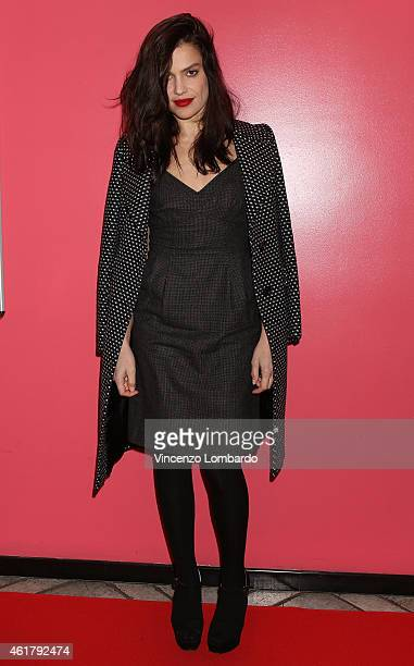 Micaela Ramazzotti attends the IL NOME DEL FIGLIO Red Carpet and Photocall on January 19 2015 in Milan Italy