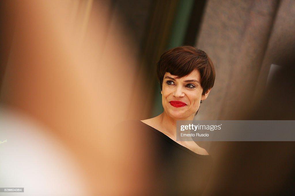 Micaela Ramazzotti attends the 'La Pazza Gioia' photocall at Hotel Visconti on May 06, 2016 in Rome, .