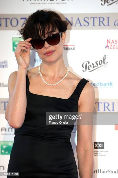 Micaela Ramazzotti attends the nominees presentation of Nastri D'Argento at Maxxi Museum on June 6 2017 in Rome Italy