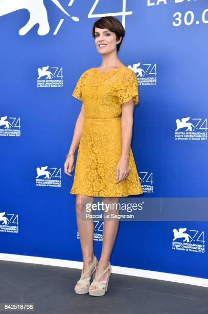 Micaela Ramazzotti attends the 'Una Famiglia' photocall during the 74th Venice Film Festival on September 4 2017 in Venice Italy
