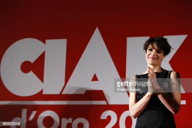 Micaela Ramazzotti receives the Ciak D'Oro 2017 award at Link Campus University on June 8 2017 in Rome Italy