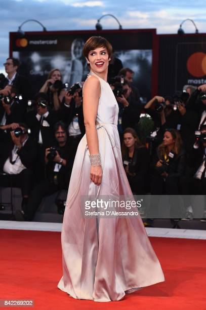 Micaela Ramazzotti walks the red carpet ahead of the 'The Leisure Seeker ' screening during the 74th Venice Film Festival at Sala Grande on September...