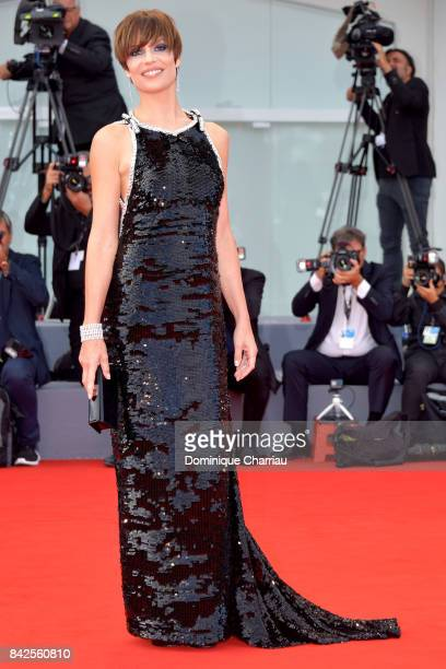 Micaela Ramazzotti walks the red carpet ahead of the 'Una Famiglia' screening during the 74th Venice Film Festival at Sala Grande on September 4 2017...
