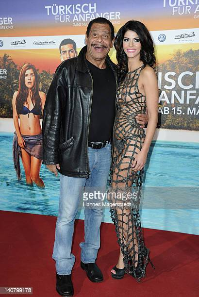 Micaela Schaefer and actor Guenther Kaufmann attends the Premiere Tuerkisch fuer Anfaenger at the CinemaxX on March 6 2012 in Munich Germany