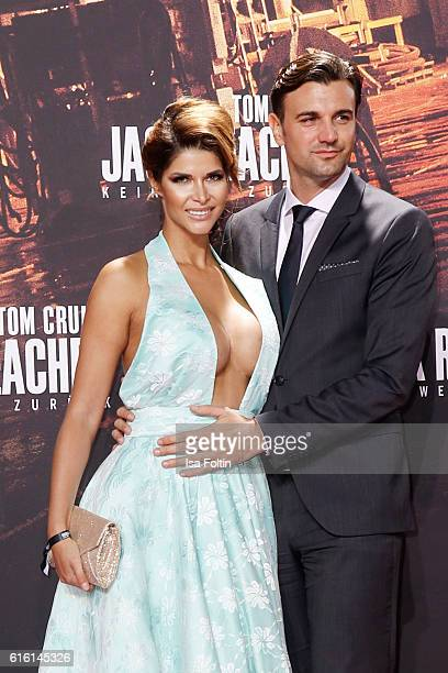 Micaela Schaefer and guest attend the 'Jack Reacher Never Go Back' Berlin Premiere at CineStar Sony Center Potsdamer Platz on October 21 2016 in...