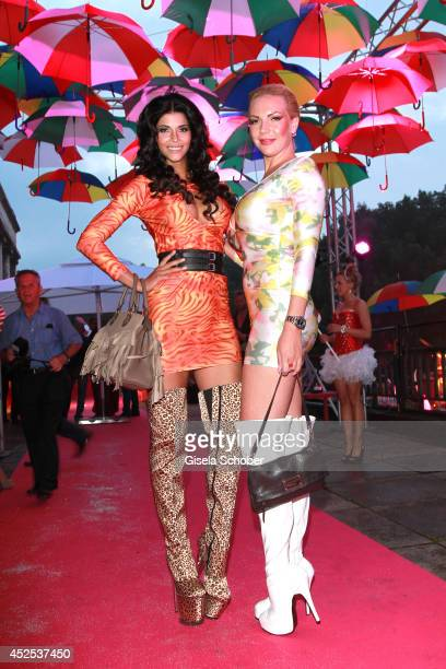 Micaela Schaefer and Nicole Neukirch attend the P1 summer party at P1 on July 22 2014 in Munich Germany