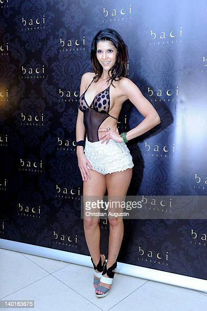 Micaela Schaefer attends Baci Lingerie ShopOpening at GaensemarktPassage on February 29 2012 in Hamburg Germany