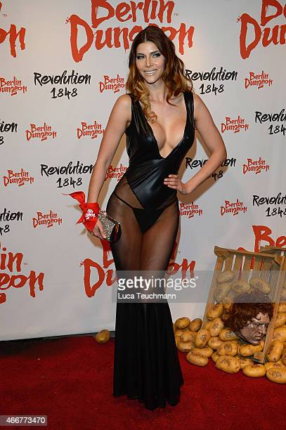 Micaela Schaefer attends 'Revolution 1848' Show Premiere at Berlin Dungeon on March 18 2015 in Berlin Germany