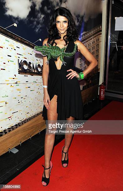 Micaela Schaefer attends the 'Alarm For Cobra 11' preview at the 'Kosmos' cinema during day four of the 62nd Berlinale Film Festival on February 11...