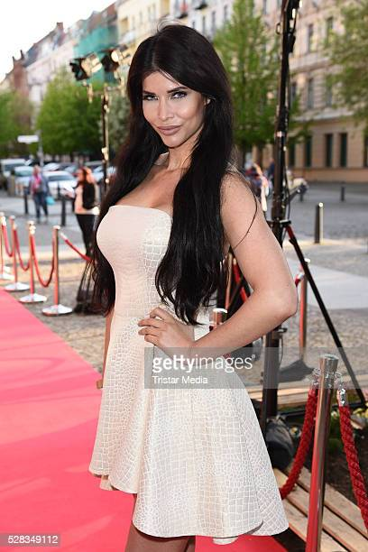 Micaela Schaefer attends the Anjoy Restaurant Opening on May 04 2016 in Berlin Germany