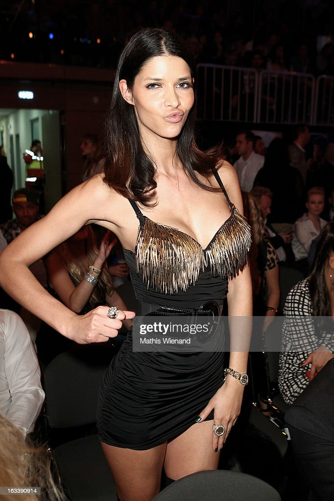 Micaela Schaefer attends the 'Das Grosse Sat.1 Promiboxen' at Castello on March 8, 2013 in Dusseldorf, Germany.