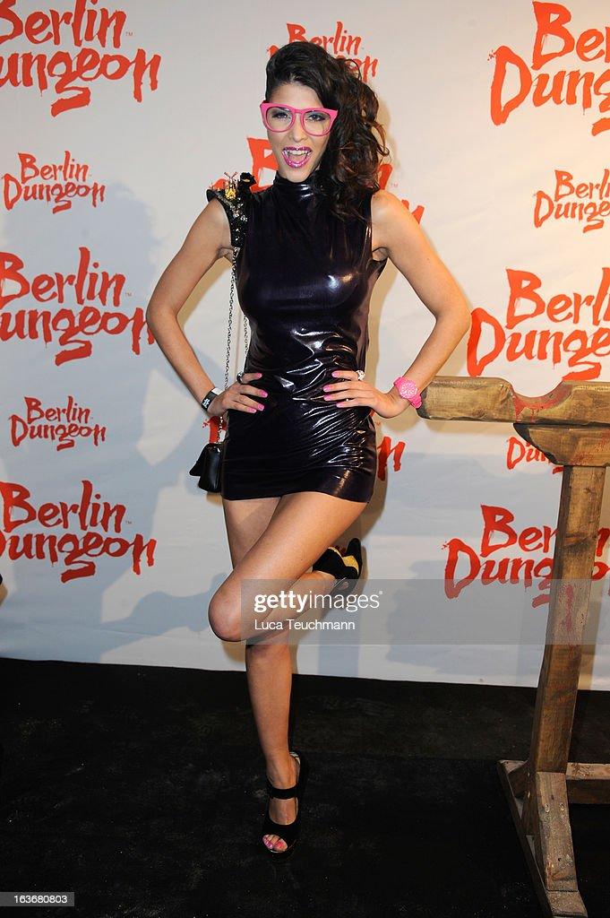 Micaela Schaefer attends the opening of the Berlin Dungeon near Hackescher Markt in Berlin on March 14, 2013 in Berlin, Germany.