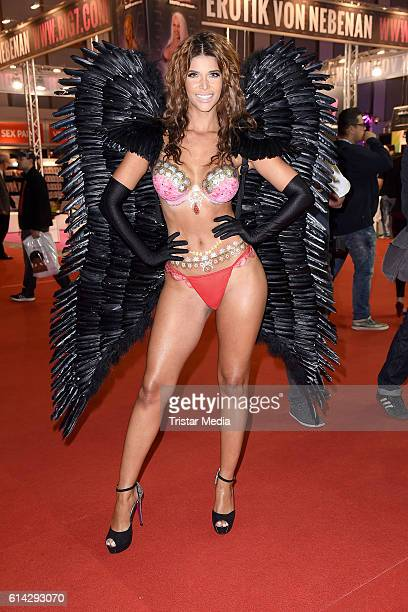 Micaela Schaefer attends the opening of the Venus Erotic Fair at Palais am Funkturm on October 13 2016 in Berlin Germany