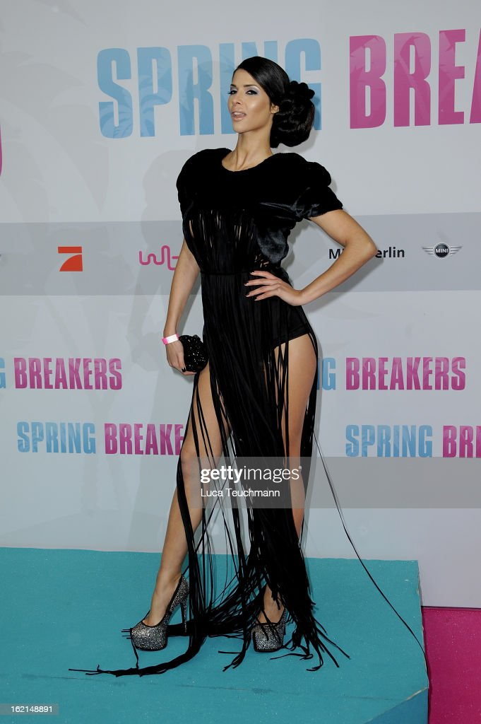 Micaela Schaefer attends the premiere of ''Spring Breakers' at Sony Center on February 19, 2013 in Berlin, Germany.