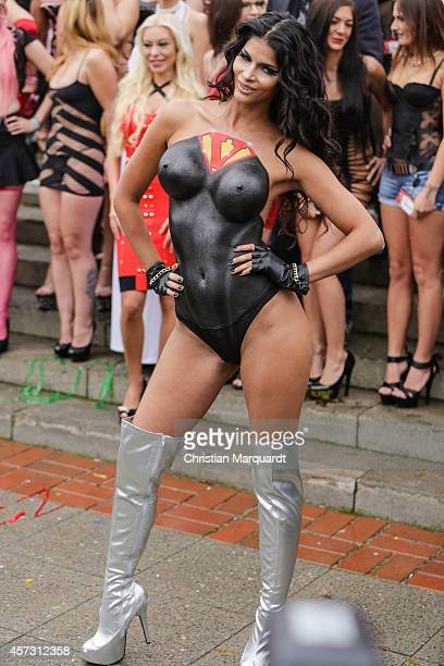 Micaela Schaefer attends the 'Venus Erotic Fair 2014' on October 17 2014 in Berlin Germany