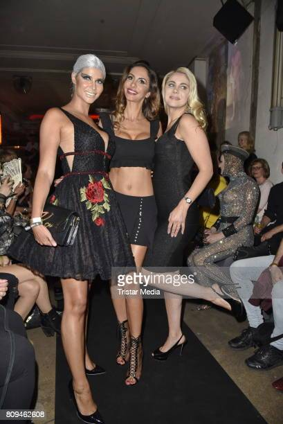 Micaela Schaefer Janina Youssefian and Yvonne Woelke attend the Matthias Maus Fashion Show Autumn/Winter 2017 at Kaufhaus Jandorf on July 5 2017 in...
