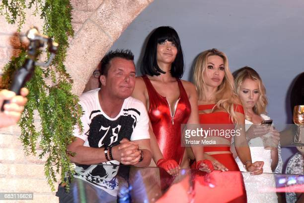 Micaela Schaefer Maria Hering and Prinz Marcus von Anhalt during the Megapark Mallorca Season opening on May 14 2017 in Palma de Mallorca Spain