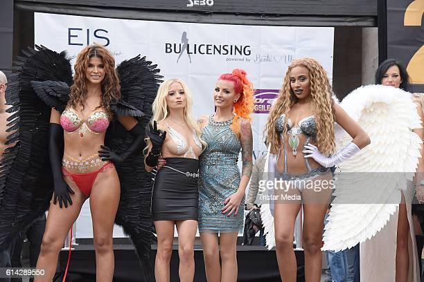 Micaela Schaefer Mia Julia Brueckner Lexy Roxx and Sarah Jeolle Jahnel attend the opening of the Venus Erotic Fair at Palais am Funkturm on October...