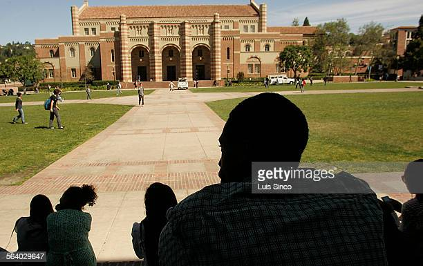 Micah Crawford a senior at La Sierra high School in Riverside joins a group of college–bound black students on a tour of the UCLA campus in Westwood...