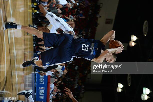 Micah Downs of the Dallas Mavericks rebounds against the Toronto Raptors during NBA Summer League on July 16 2012 at the Thomas and Mack Center in...