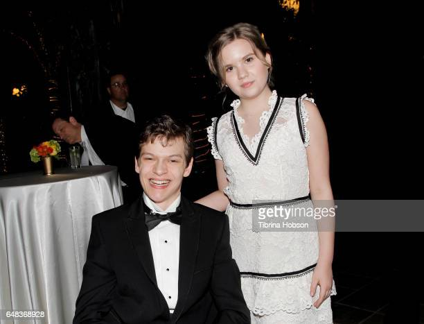 Micah Fowler and Kyla Kenedy attend Shane's Inspiration 'A Night In Old Havana' Gala at Taglyan Complex on March 4 2017 in Los Angeles California