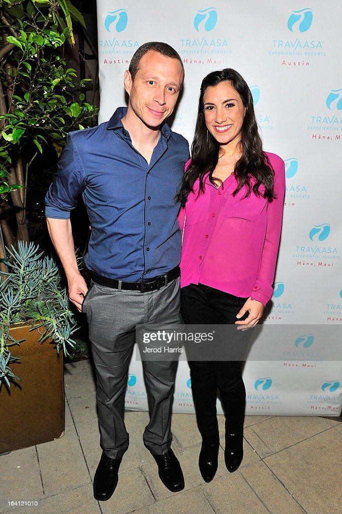 Micah Hauptman and actress Annika Marks attend Travaasa Resorts official LA experience event at Kinara Spa on March 19, 2013 in Los Angeles, California.