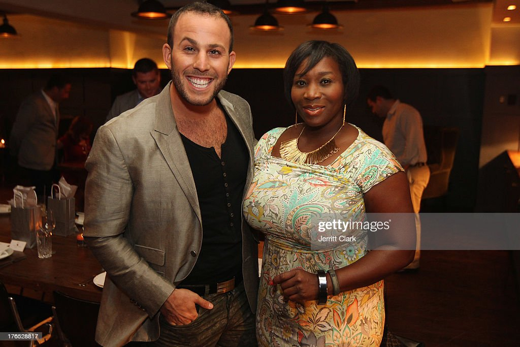 Micah Jesse and Beverly Smith attend the Invisible Text Mobile App Preview at the Soho House on August 14, 2013 in New York City.