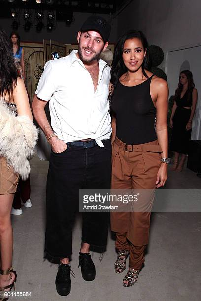 Micah Jesse and Julissa Bermudez attend the Alice Olivia by Stacey Bendet Spring/Summer 2017 Presentation during New York Fashion Week September 2016...