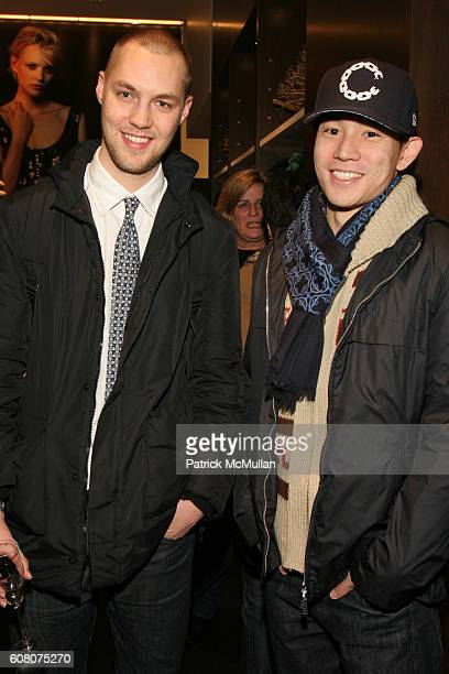 Micah Johnson and Eugene Tong attend Club Monaco And Tina Chai Host Cashmere And Cocktails For A Cause at Club Monaco on December 12 2006 in New York...