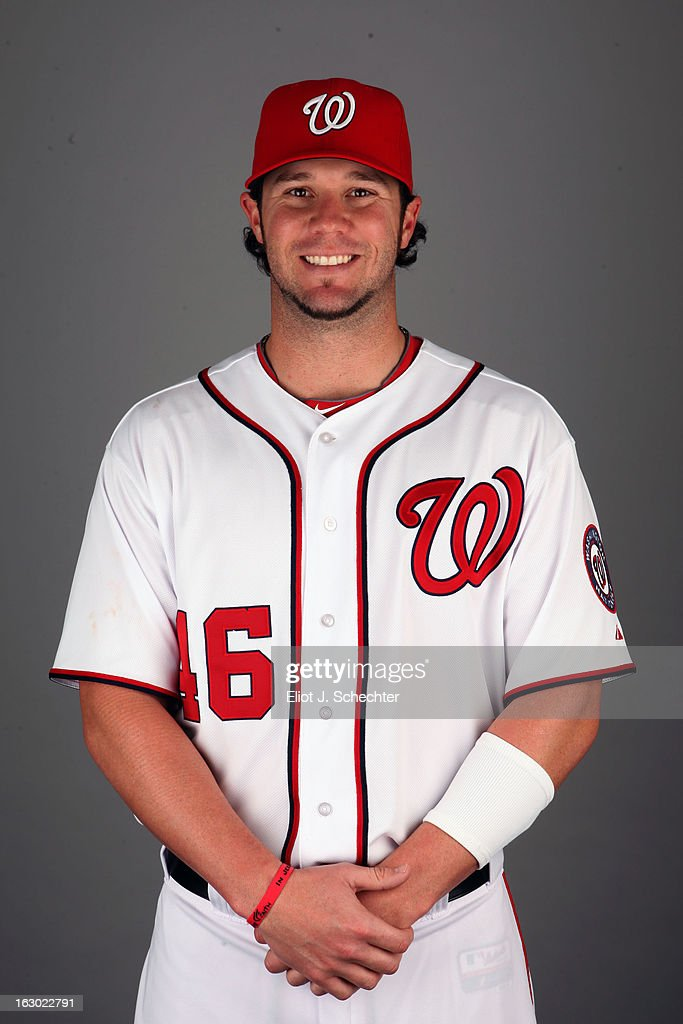 Micah Owings #46 of the Washington Nationals poses during Photo Day on February 20, 2013 at Space Coast Stadium in Viera, Florida.
