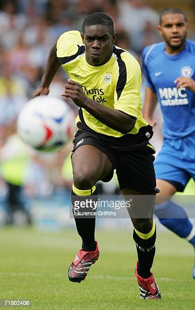Micah Richards of Manchester City in action during the Pre Season Friendly Match between Rochdale and Manchester City at Spotland Stadium on July 22...