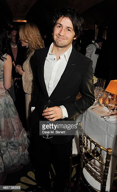 Micahel Angarano attends the Charles Finch and Chanel PreBAFTA cocktail party and dinner at Annabel's on February 8 2013 in London England