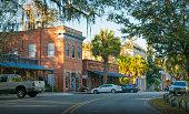 Historic downtown Micanopy, near Gainesville, Florida.