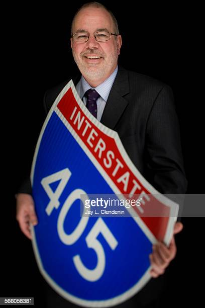 MIchael A Barbour executive officer highway project management with Metro oversees the project widening the 405 freeway and is photographed for the...