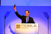 Michael Abbott chief executive officer of ISIS speaks during a keynote event at the Mobile World Congress in Barcelona on February 29 2012 on the...