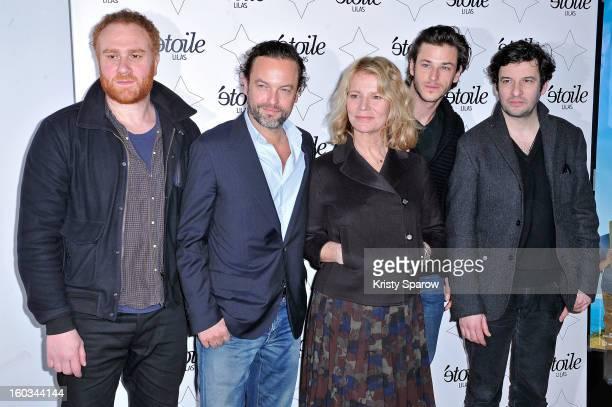 Michael Abitboul Patrick Mille Nicole Garcia Gaspard Ulliel and Eric Caravaca attend the 'Tu Honoreras Ta Mere Et Ta Mere' Premiere at the Cinema...