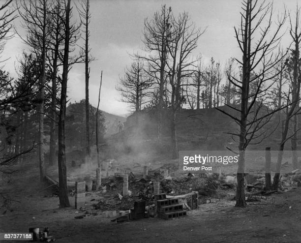 Michael Albes And Bill Carpenter Were Living In This Cabin Before It Burned To Ground About 50 fire fighters remained at the scene near Gold Hill...