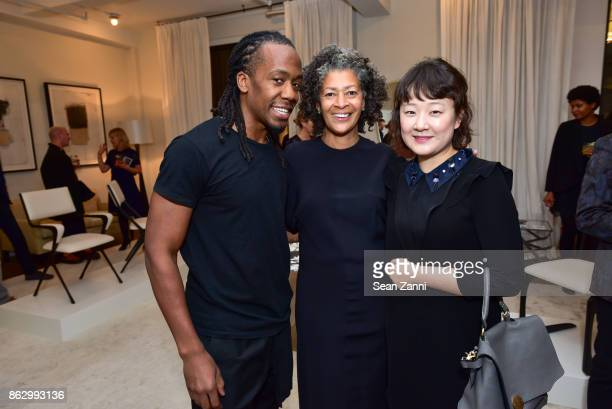 Michael Alexander Angela Brown and Jay Chang attend Tom Faulkner at Angela Brown Ltd on October 18 2017 in New York City
