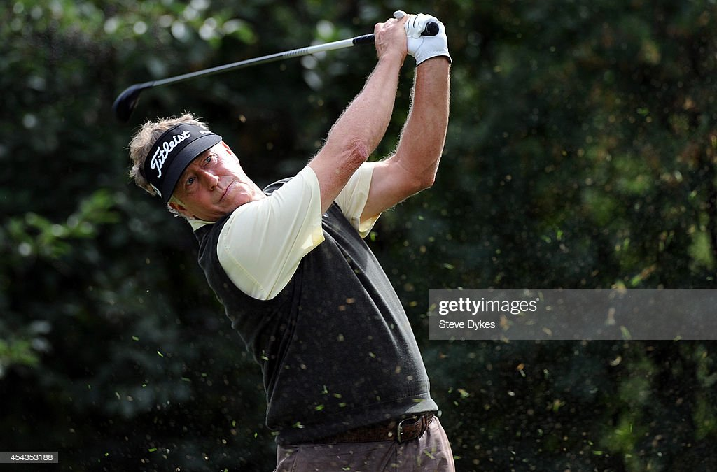 Michael Allen hits his drive on the sixth hole during the first round of the Shaw Charity Classic on August 29, 2014 in Calgary, Canada.