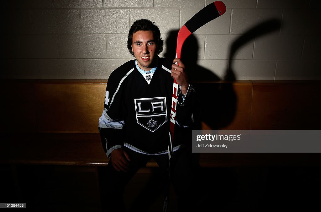 Michael Amadio of the Los Angeles Kings poses for a portrait during the 2014 NHL Draft at the Wells Fargo Center on June 28, 2014 in Philadelphia, Pennsylvania.
