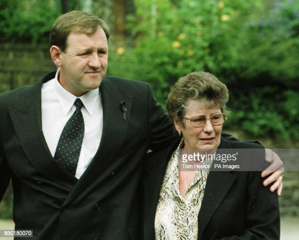 Michael and Betty Light brother mother of John Light at his funeral at the Wimpole Road Methodist Church in Colchester Gala bingo hall manager John...