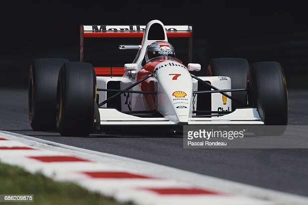 Michael Andretti of the United States drives the Marlboro McLaren McLaren MP4/8 Ford HBE7 V8 during the Italian Grand Prix on 12 September 1993 at...