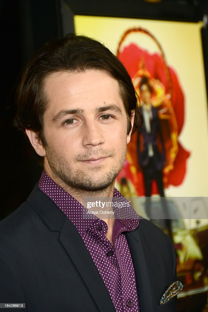 <a gi-track='captionPersonalityLinkClicked' href=/galleries/search?phrase=Michael+Angarano&family=editorial&specificpeople=226743 ng-click='$event.stopPropagation()'>Michael Angarano</a> arrives at the LA screening of Magnolia Pictures' 'The Brass Teapot' at ArcLight Hollywood on March 21, 2013 in Hollywood, California.