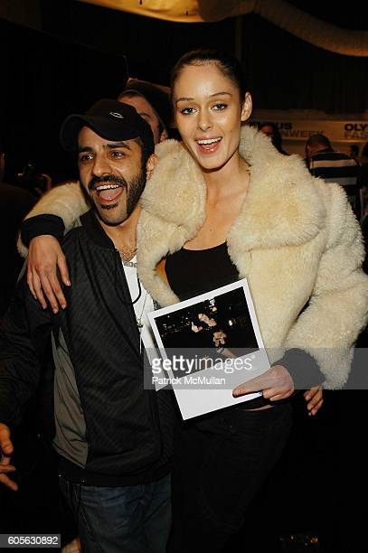 Michael Angel and Nicole Trunfio attend Oakley Womens Fall 06 Fashion Show at Atelier The Tents at Bryant Park on February 4 2006 in New York