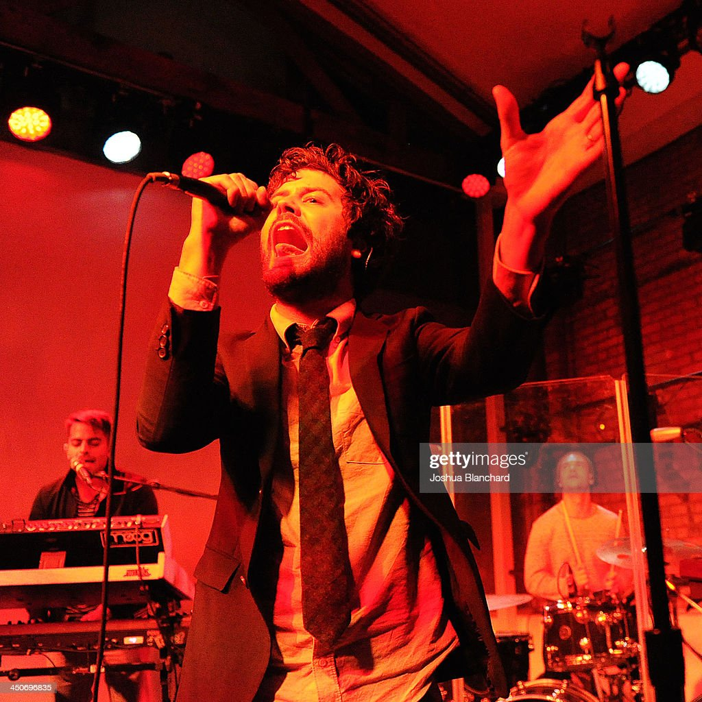 <a gi-track='captionPersonalityLinkClicked' href=/galleries/search?phrase=Michael+Angelakos&family=editorial&specificpeople=5735300 ng-click='$event.stopPropagation()'>Michael Angelakos</a> of Passion Pit performs at the Kim Sing Theatre for MINI Cooper Unveils Newest Addition To The MINI Fleet During Los Angeles Auto Show on November 19, 2013 in Los Angeles, California.