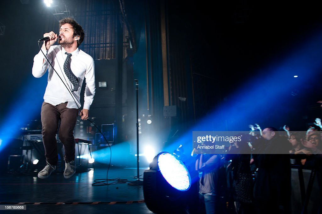 Michael Angelakos of Passion Pit performs on stage at The Forum on November 20, 2012 in London, United Kingdom.